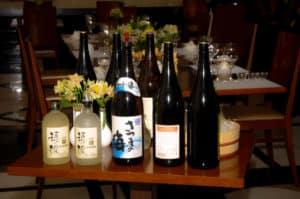 sake tasting bottles