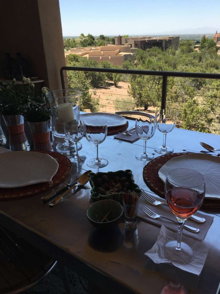 lunch on the terrace - fun things to do in Santa Fe