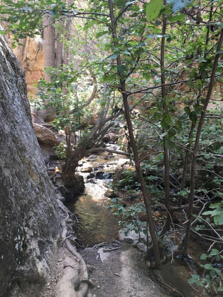 waterfall near Rio en Medio Trail - fun things to do in Santa Fe