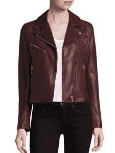 Doma Nappa Leather Moto Jacket