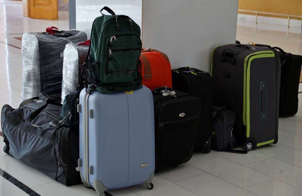 many suitcases