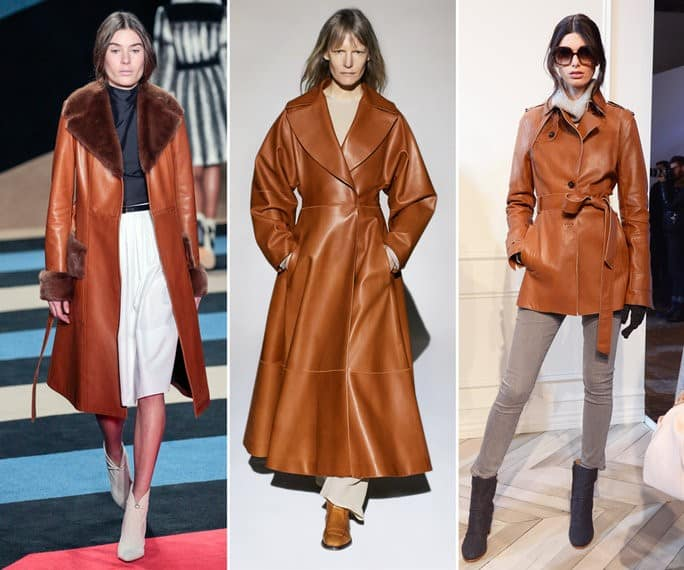Coat Trends - Camel Leather