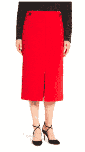 Ellen Tracy Front Slit Midi Skirt