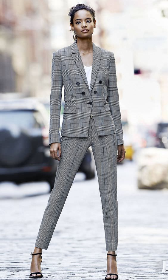 Glen Plaid Suit by Express