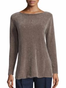 Lafayette 148 New York Silk Chenille Sequin Sweater, $486