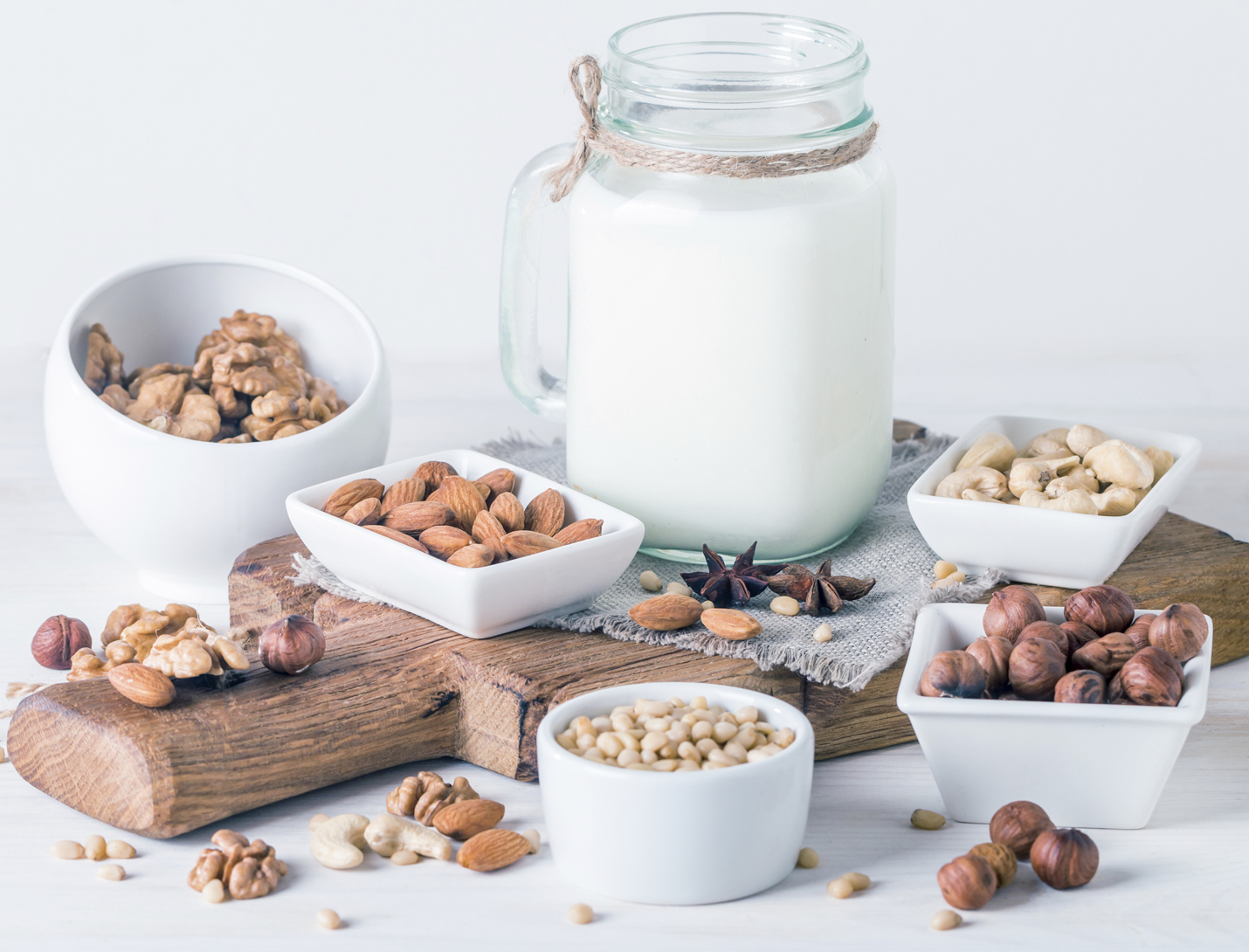 Nuts and Nut Milk for Protein