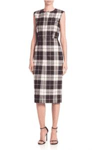 Max Mara Miriam Plaid Wool Sheath Dress, $825