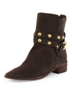 See by Chloe Janis Studded Suede Bootie