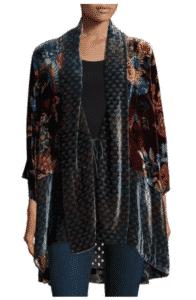 Johnny Was Dream Multi-Print Velvet Kimono Jacket, $225