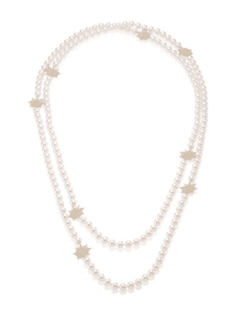 Adriana Orsini Statement Faux-Pearl Crystal Station Necklace