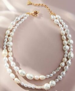 Anthropologie Double Strand Pearl Necklace, $58