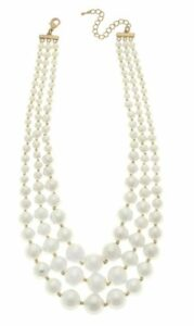 Canvas Audrey Imitation Pearl Layered Necklace, $48