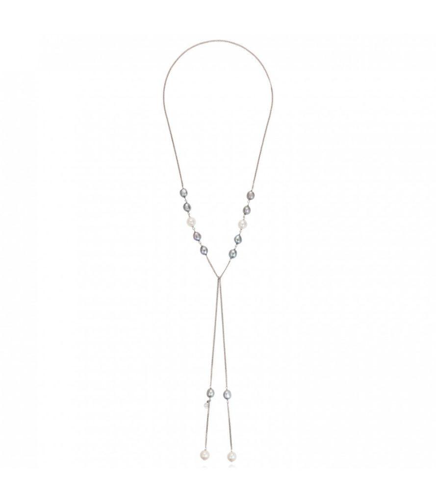 Claudia Bradby Ombre Pearl Lariat Necklace