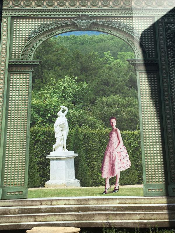 Dior mural at palace of versailles