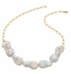 Monica Vinader Baroque Pearl Necklace, $450