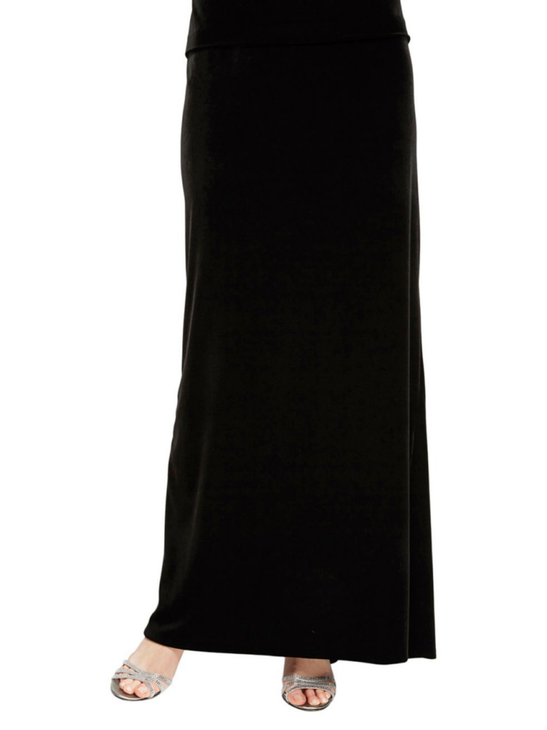 Alex Evenings Fishtail-Back Velvet A-Line Skirt