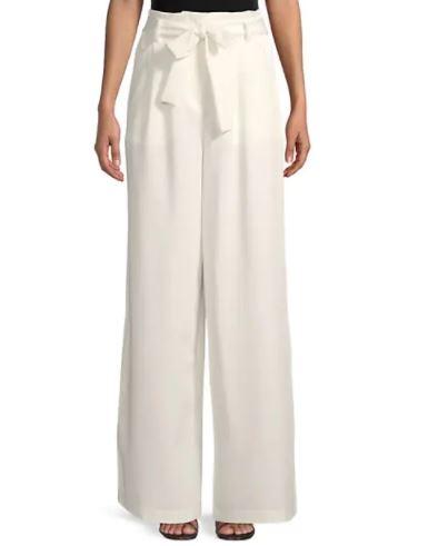 BCBG Long Wide-Leg Paperbag Pants