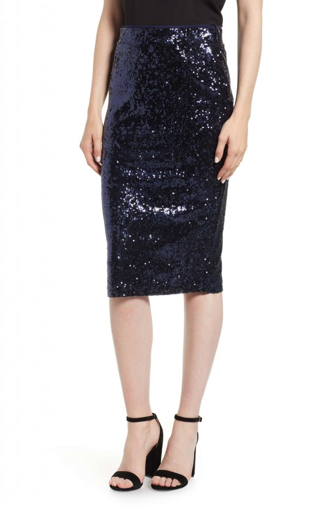 Chelsea28 Sequin Pencil Skirt