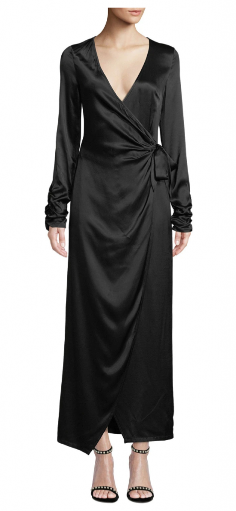 Donna Mizani Austen Long-Sleeve Maxi-Length Wrap Dress