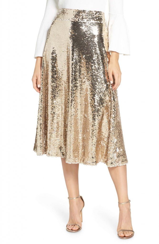 Eliza J Sequin Aline Skirt