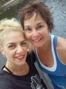 Yoga instructors Tina Marie Rodriguez and Terry Michael