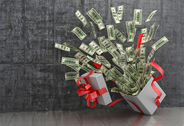 financial gifts to family