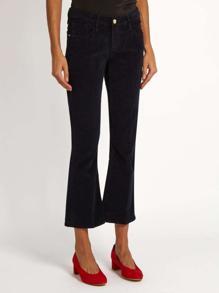 Le Crop Mini Boot Corduroy Cropped Trousers