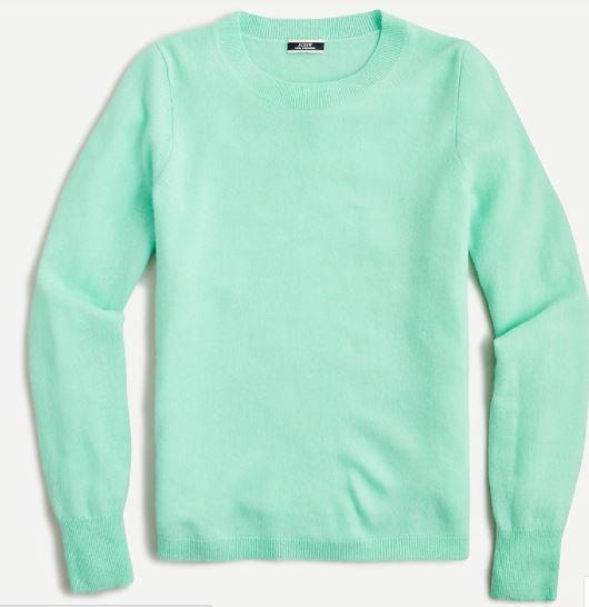JCREW Cashmere crewneck sweater