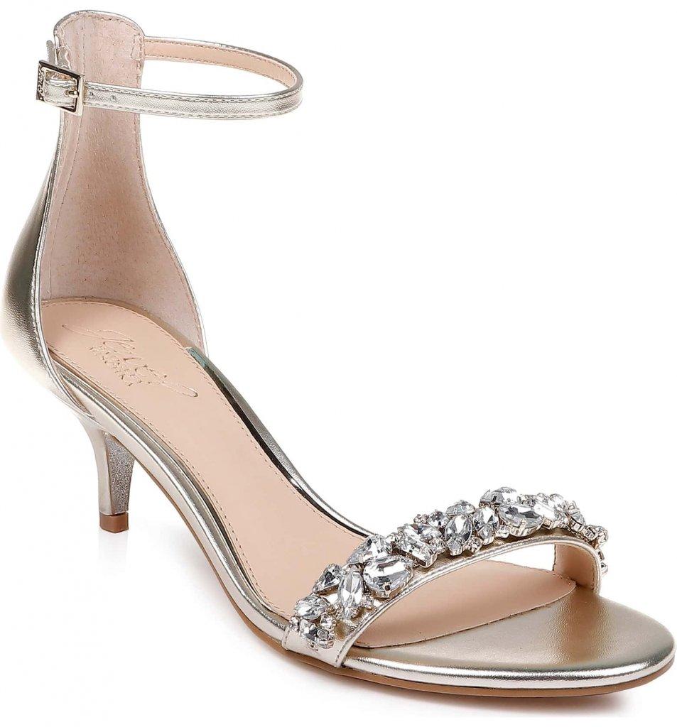 Madgley Mischka Dash Embellished Halo Strap Sandal
