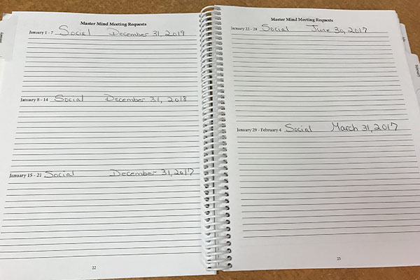 New Year's Goal Book