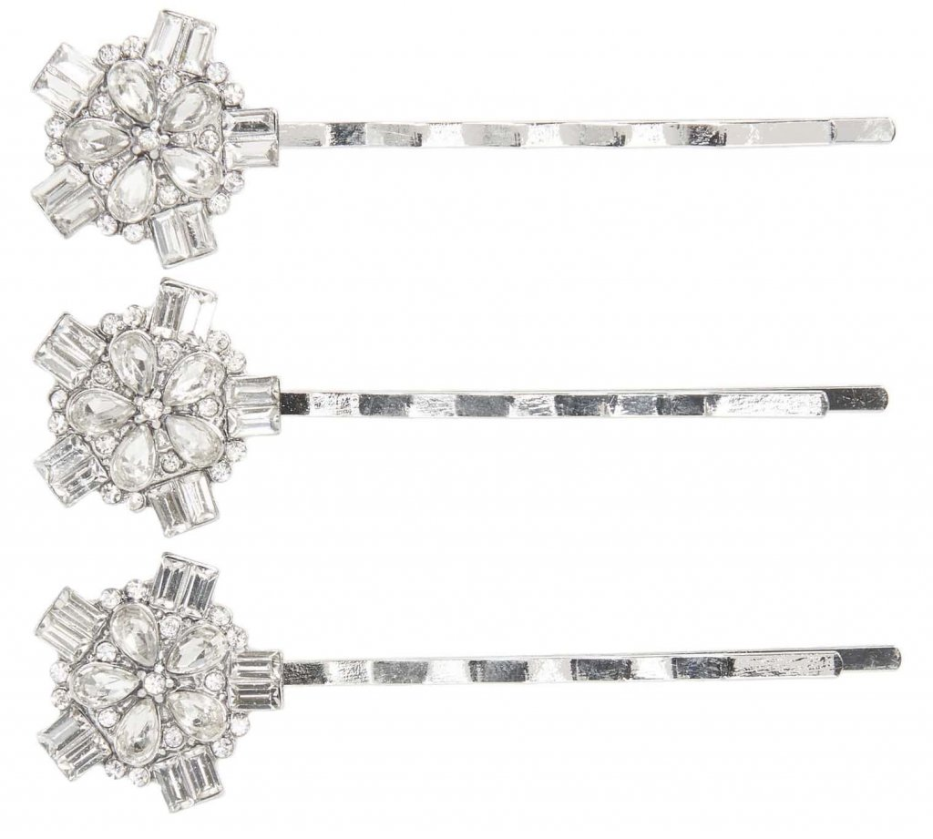 Tasha 3-Pack Embellished Bobby Pins