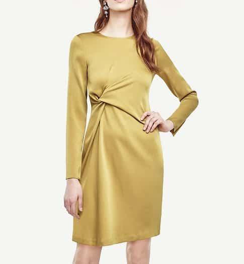 Triacetate Twist Shift Dress