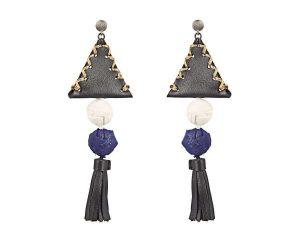 Nefeli Leather and Silk Earrings