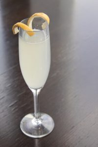 Champagne Cocktail with Lemon Twist