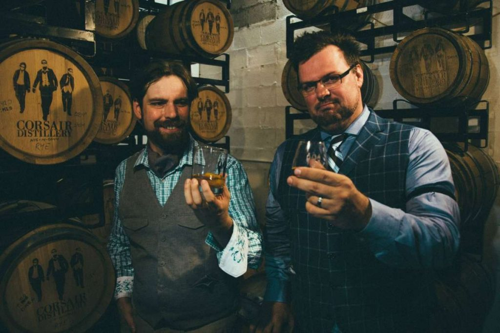 Andrew Webber and Darek Bell, Corsair Distillery