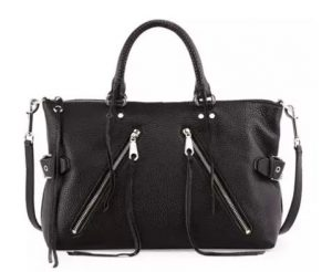 Large Moto Leather Satchel Bag
