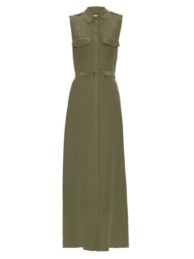 Major Sleeveless Silk Maxi Dress