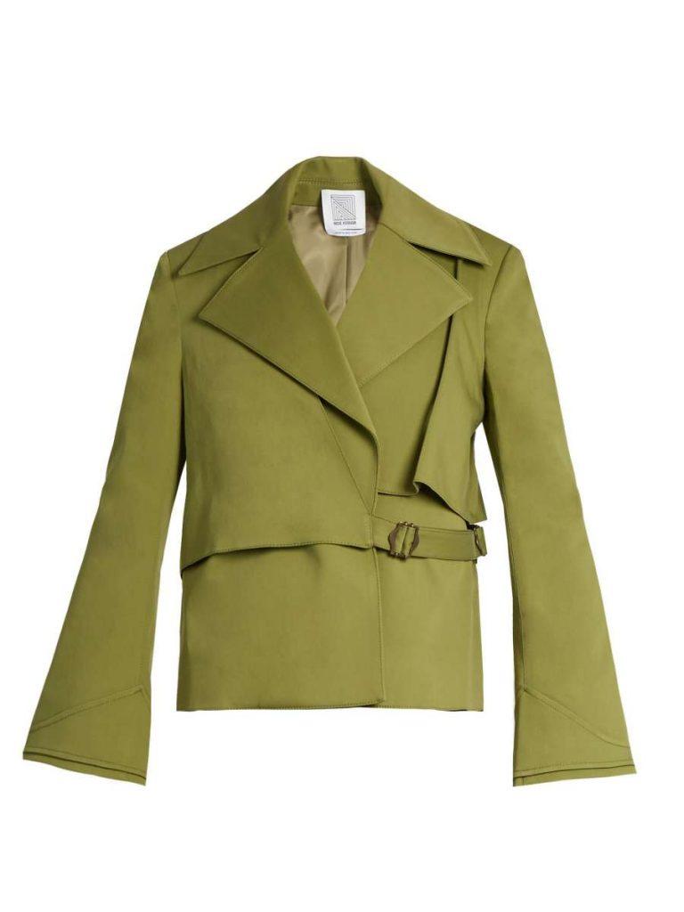 Yipee Ki-Yay Cotton-Blend Twill Jacket