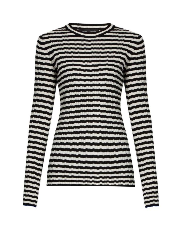 Striped Silk and Cashmere-Blend Sweater