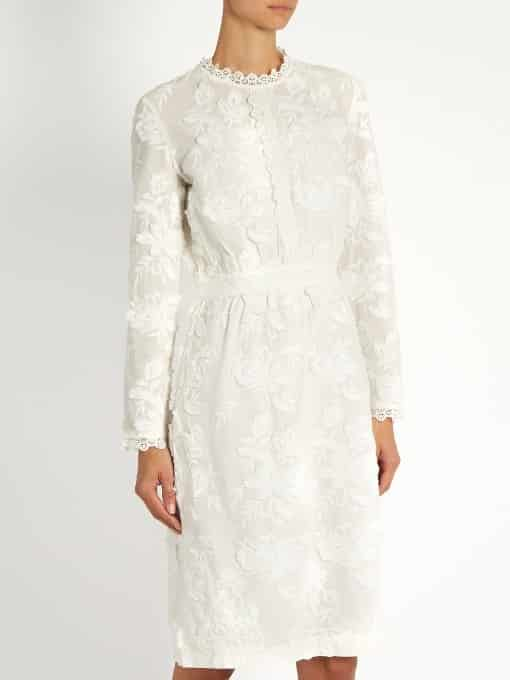 Foraine Embroidered Cotton-Voile Dress
