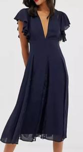 ASOS dress with lace godet panels