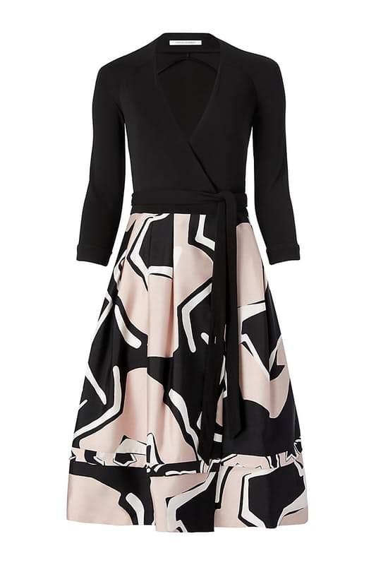 Diane Von Furstenberg New Jewel Wrap Dress