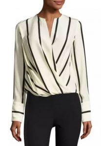 Max Long-Sleeve Striped Silk Blouse