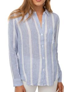 Rails Charli Button-Down Shirt, Levanzo Stripe