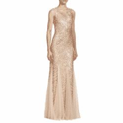 sequin godet gown