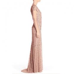 sequin mesh gown