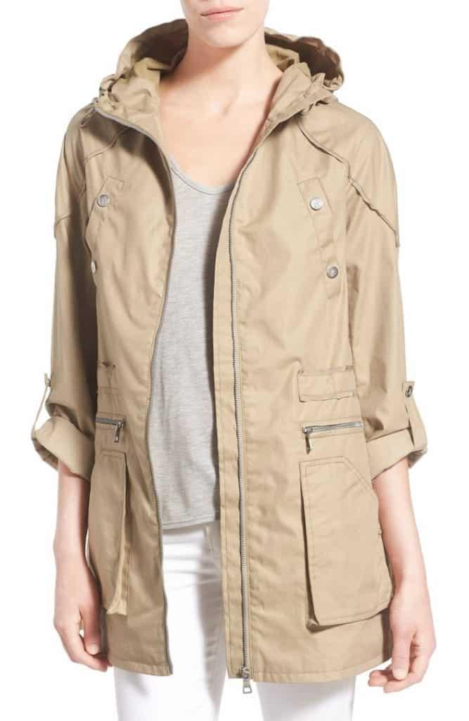 Roll Sleeve Cotton Twill Utility Jacket
