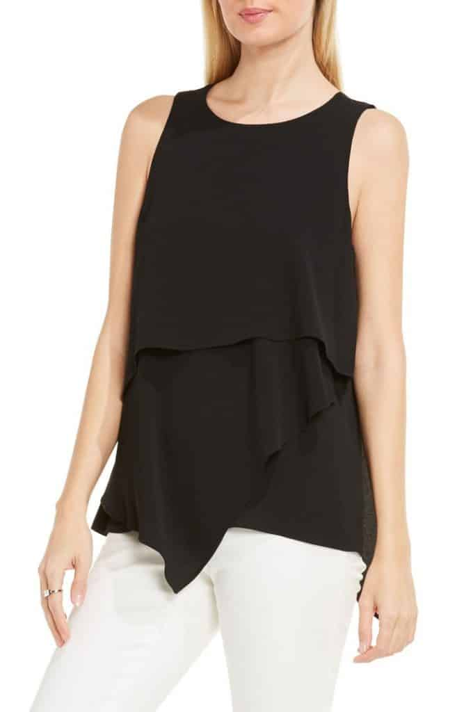 Tiered Asymmetrical Blouse
