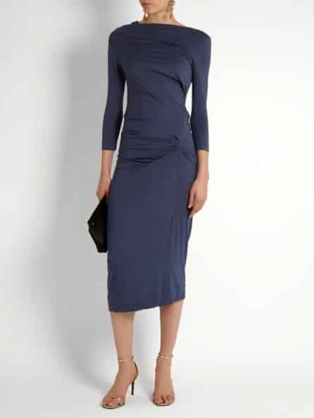 Vivienne Westwood Taxa Asymmetric Draped Jersey Dress
