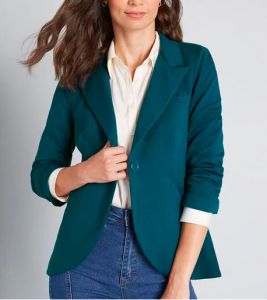 Teal Women's Blazers in multiple colore